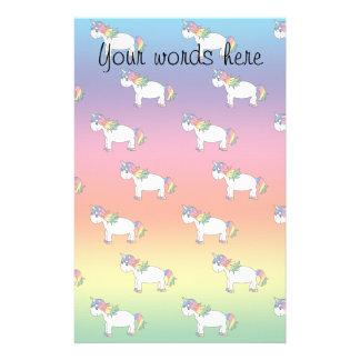 Rainbow unicorn stationery