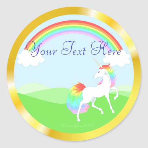 Rainbow Unicorn Stickers
