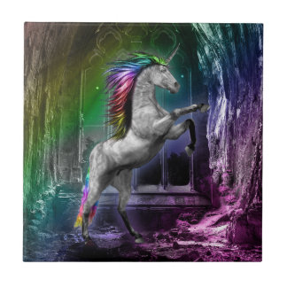 Rainbow Unicorn Tile