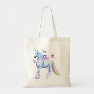 Rainbow unicorn tote bag