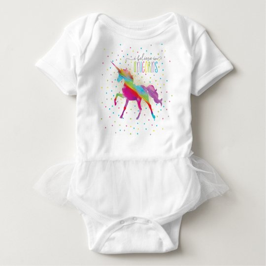 Rainbow Unicorn Tutu - 1st Birthday Outfit Baby Bodysuit