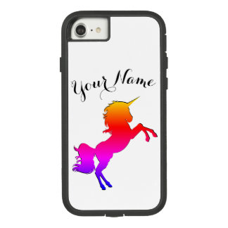 Rainbow Unicorn with Personalised Name Case-Mate Tough Extreme iPhone 7 Case