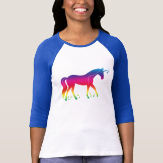 Rainbow Unicorn with Stars T-Shirt