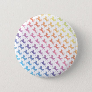 Rainbow Unicorns 6 Cm Round Badge