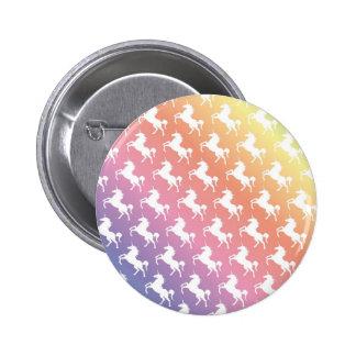 Rainbow Unicorns II 6 Cm Round Badge