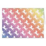 Rainbow Unicorns II Greeting Card