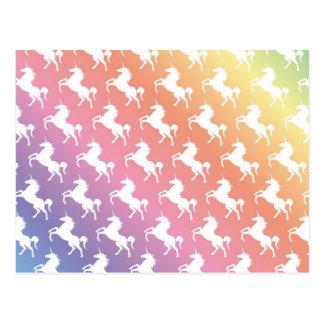 Rainbow Unicorns II Postcard