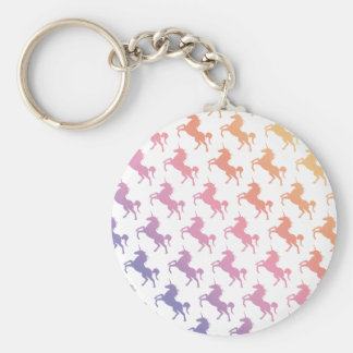 Rainbow Unicorns.pdf Key Ring