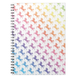 Rainbow Unicorns Spiral Notebook