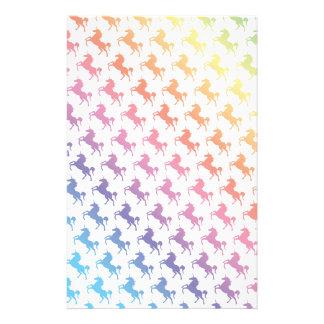 Rainbow Unicorns Stationery
