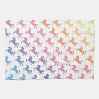 Rainbow Unicorns Tea Towel