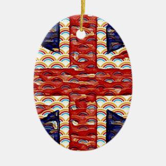 Rainbow Union Flag Christmas Ornament