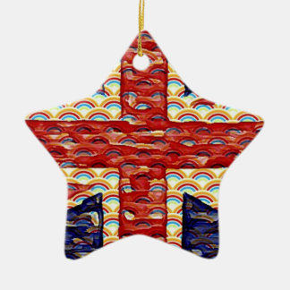 Rainbow Union Flag Christmas Ornament