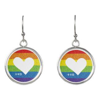 Rainbow Unity Heart Earrings