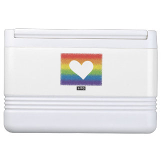 Rainbow Unity Heart Igloo Cooler