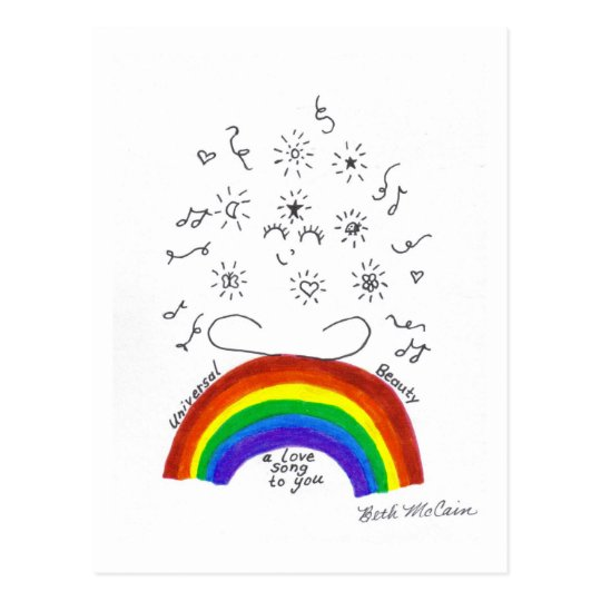 Rainbow Universal Song Postcard