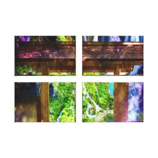 Rainbow Universe's Pathway to Paradise Canvas Prints