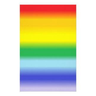 Rainbow v1 customized stationery