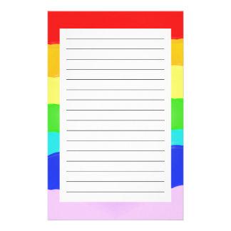 Rainbow v2 custom stationery