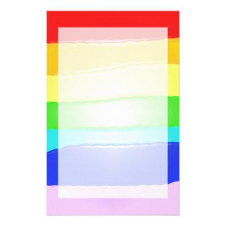 Rainbow v2 personalized stationery