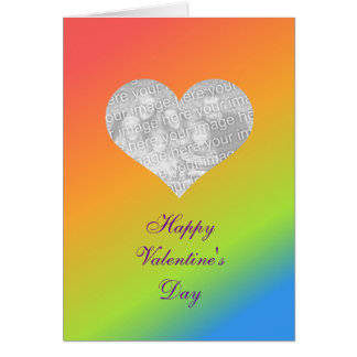 Rainbow Valentine Card