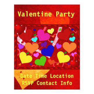 Rainbow Valentine Hearts 21.5 Cm X 28 Cm Flyer