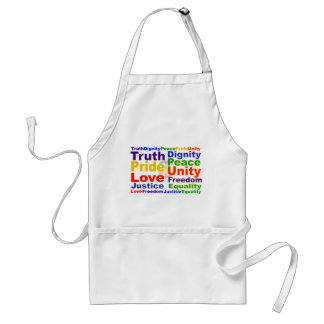 Rainbow Values apron