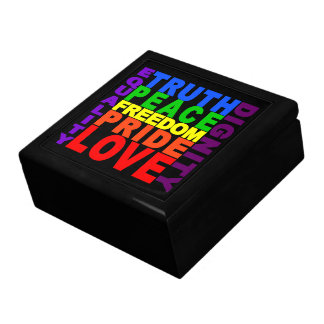 Rainbow Values gift / jewelry box