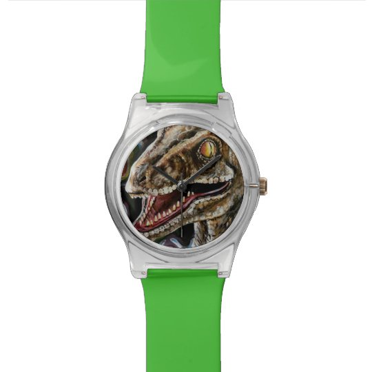 Rainbow Velociraptor Raptor Wrist Watch
