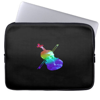 Rainbow Violin Laptop 13 Inch Sleeve