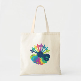 Rainbow Violin Totebag