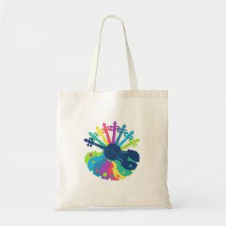 Rainbow Violin Totebag Tote Bag