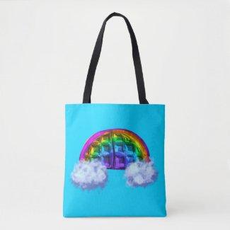 Rainbow Waffle! Tote Bag