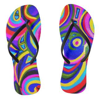 Rainbow Walk Flip Flops