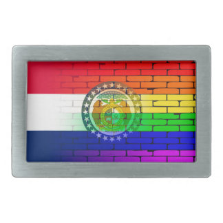 Rainbow Wall Missouri Belt Buckle