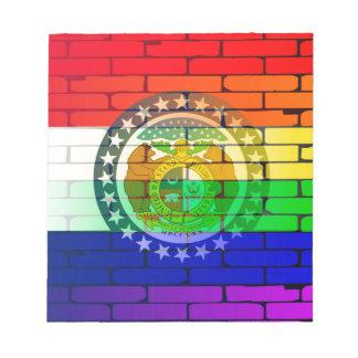 Rainbow Wall Missouri Notepad