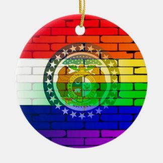 Rainbow Wall Missouri Round Ceramic Decoration