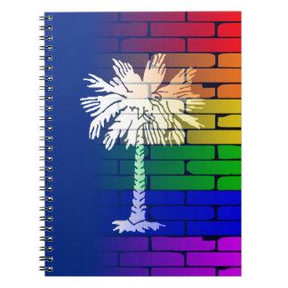 Rainbow Wall South Carolina Notebook