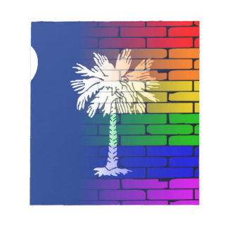 Rainbow Wall South Carolina Notepad