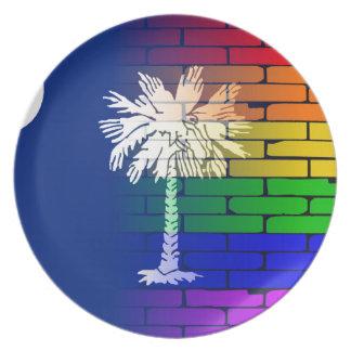 Rainbow Wall South Carolina Plate