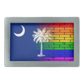 Rainbow Wall South Carolina Rectangular Belt Buckles