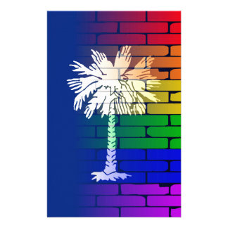 Rainbow Wall South Carolina Stationery