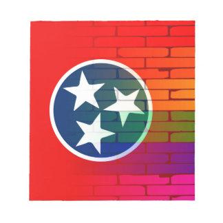Rainbow Wall Tennessee Notepad