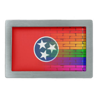 Rainbow Wall Tennessee Rectangular Belt Buckle