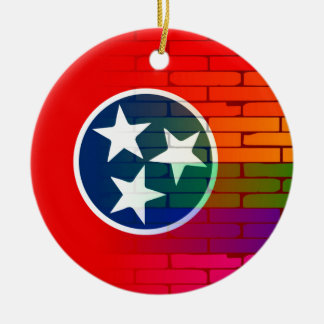 Rainbow Wall Tennessee Round Ceramic Decoration