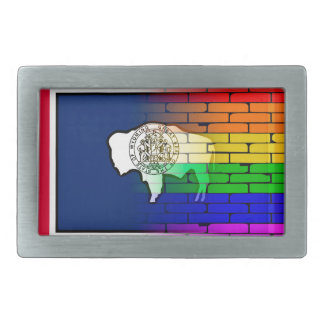 Rainbow Wall Wyoming Belt Buckles