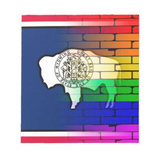 Rainbow Wall Wyoming Notepad
