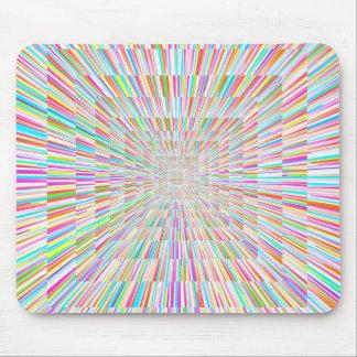 Rainbow Warp Speed Mouse Mat