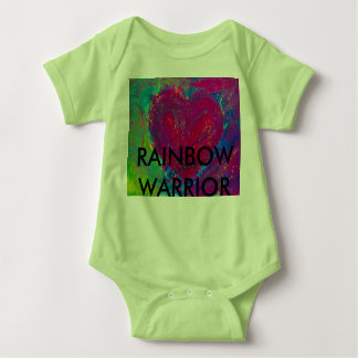 Rainbow Warrior Abstract Heart Baby Bodysuit