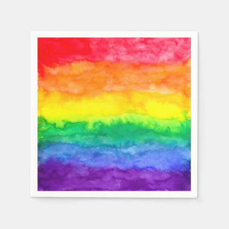 Rainbow Wash Napkins Disposable Serviette